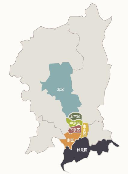 TOJ京都宿泊ページ-京都市地図